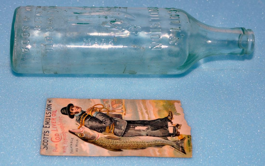 Scotts Cod liver Oil bottle -advertising piece