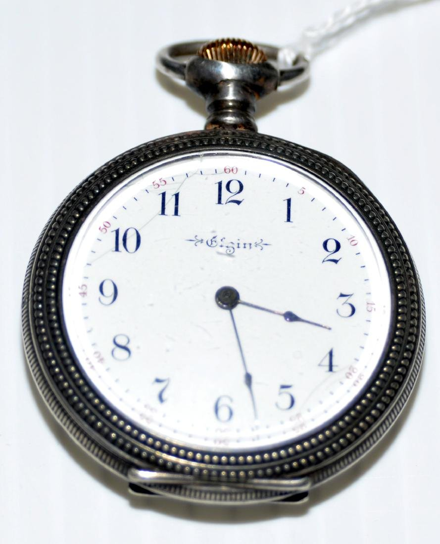 Pocketwatch Elgin coin silver  antique