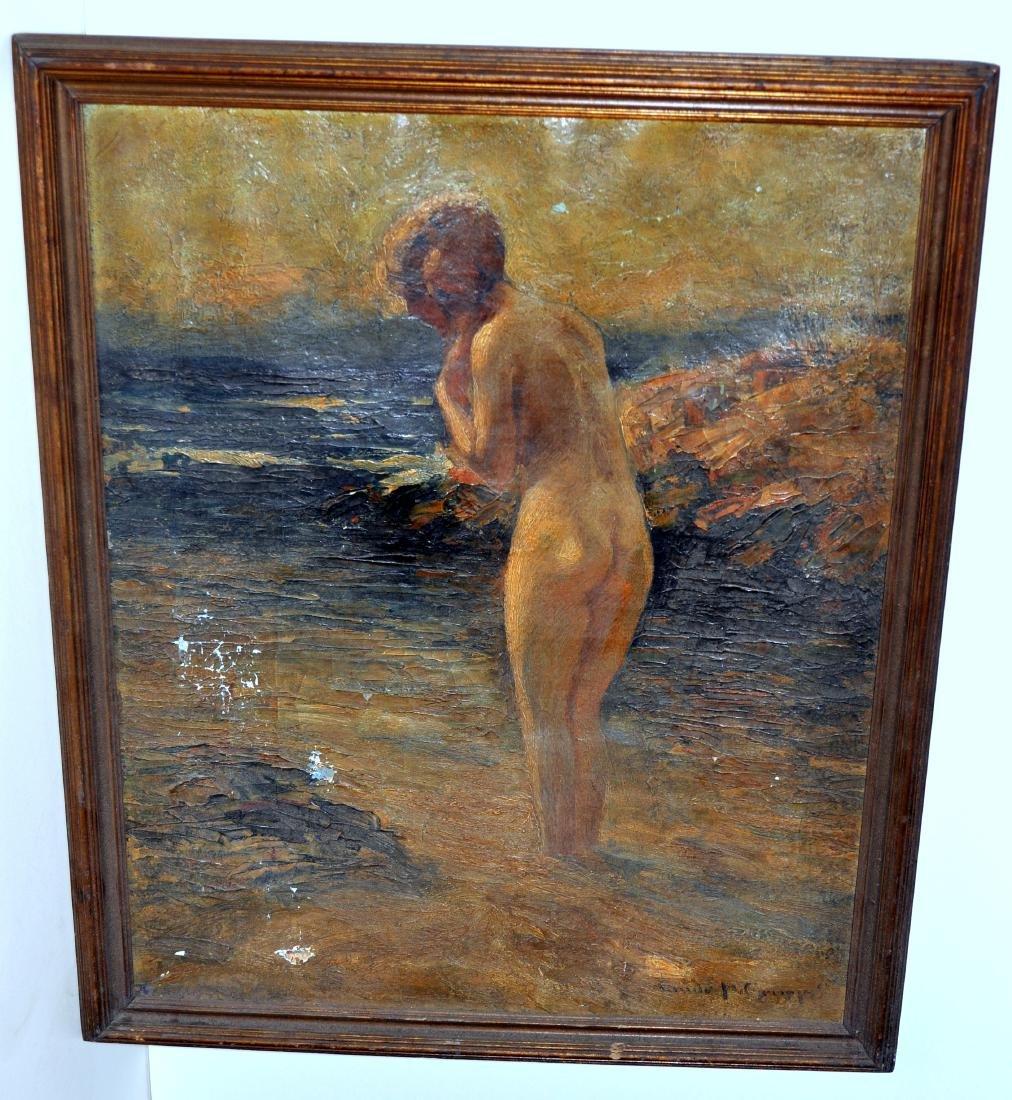Emile Gruppe oil nude lady