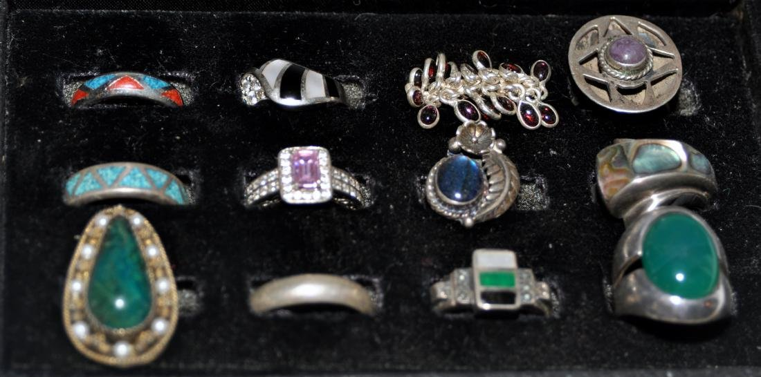 Sterling vintage ring collection-12