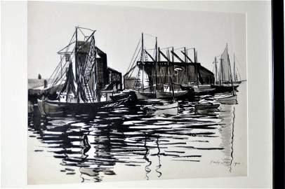 Hayley Lever Gouache Nantucket