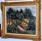 Oil painting signed Bernard Karfiol - Maine