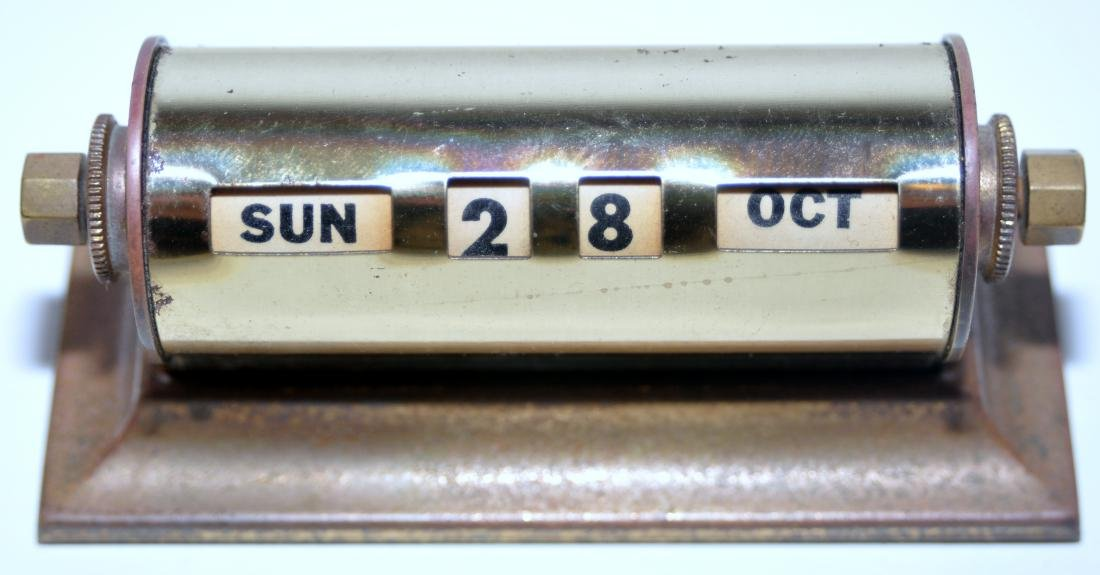 40's calendar brass Park Sherman