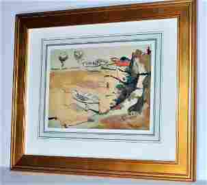 Hayley Lever watercolor signed