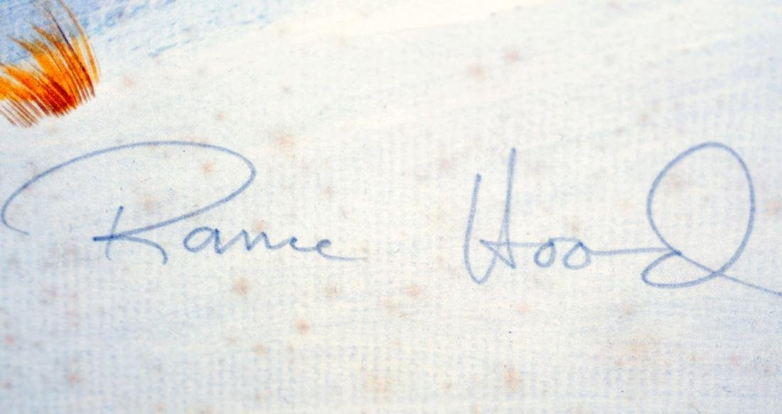 Rance Hood signed print Indians/horse back - 2