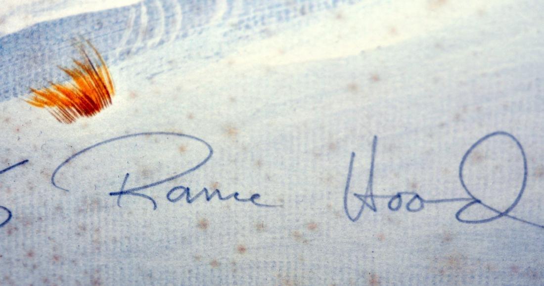Rance Hood signed print Indians/horse back - 3