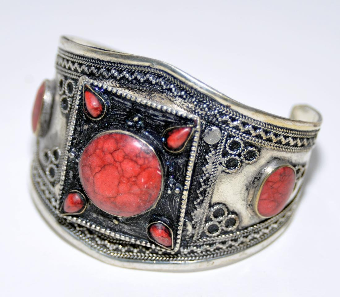 Coral Afghani cuff bracelet