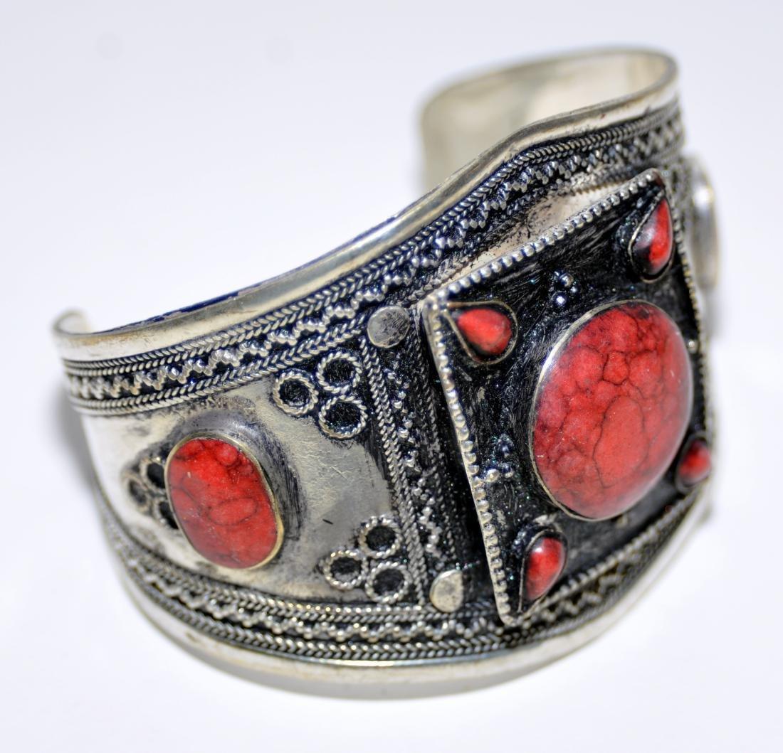 Coral Afghani cuff bracelet - 2