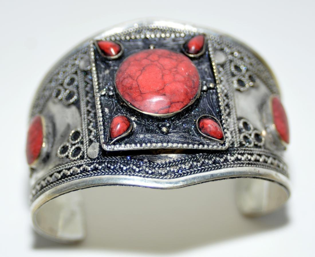 Coral Afghani cuff bracelet - 3