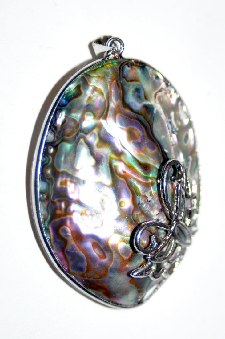 Abalone shell pendant mother of pearl