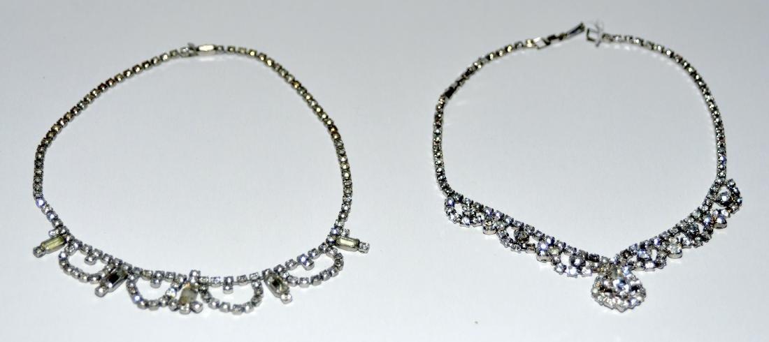 Rhinestone necklaces vintage  2