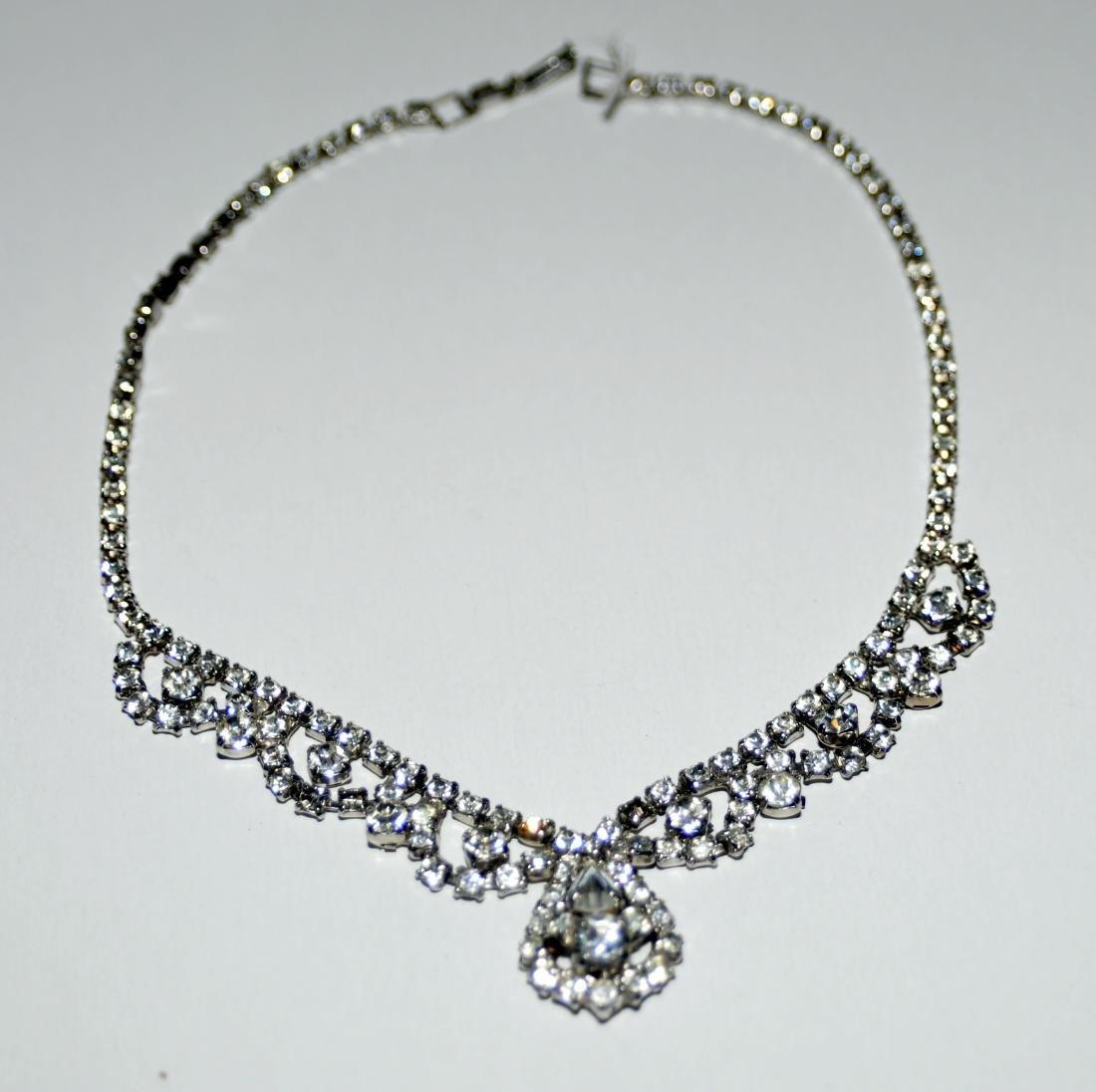 Rhinestone necklaces vintage  2 - 2