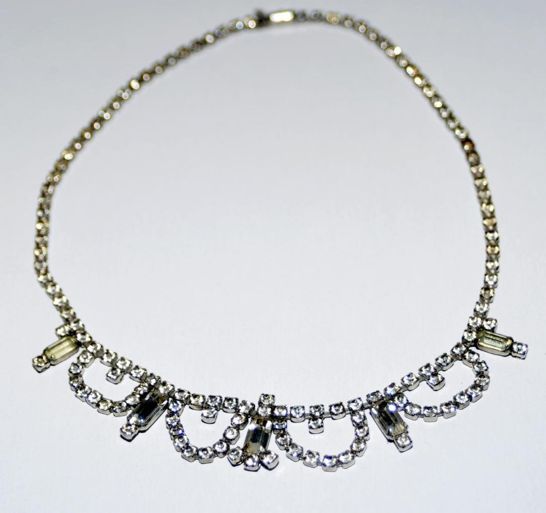 Rhinestone necklaces vintage  2 - 3