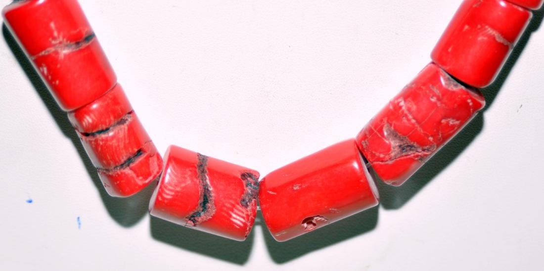 Red coral necklace beads - 2