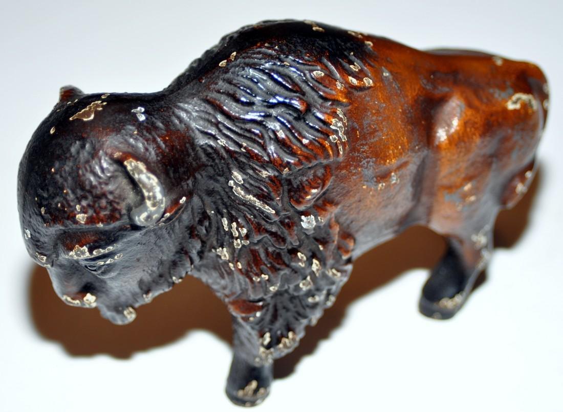 Vintage bear and buffalo statuary metal - 3