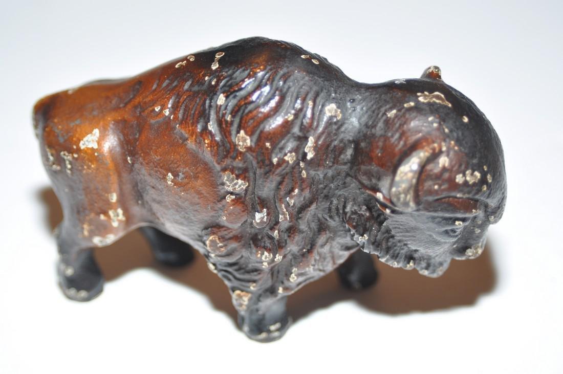 Vintage bear and buffalo statuary metal - 4