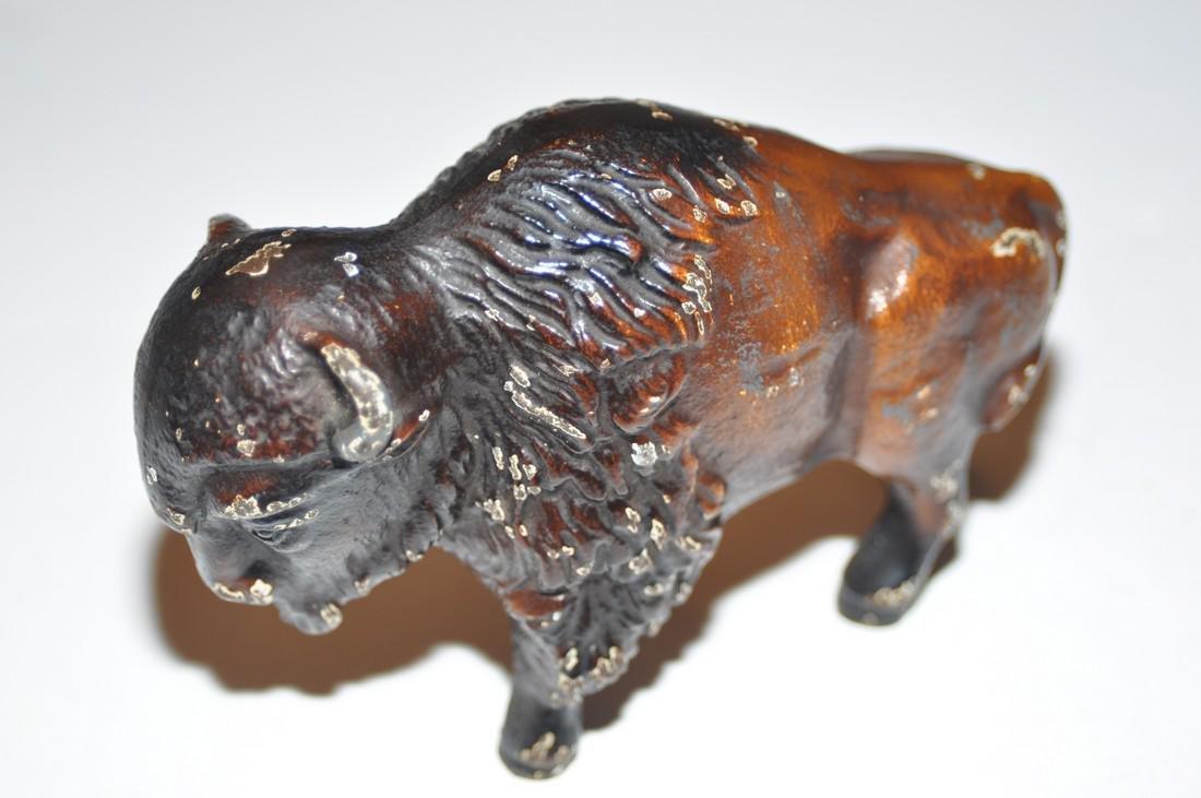 Vintage bear and buffalo statuary metal - 6
