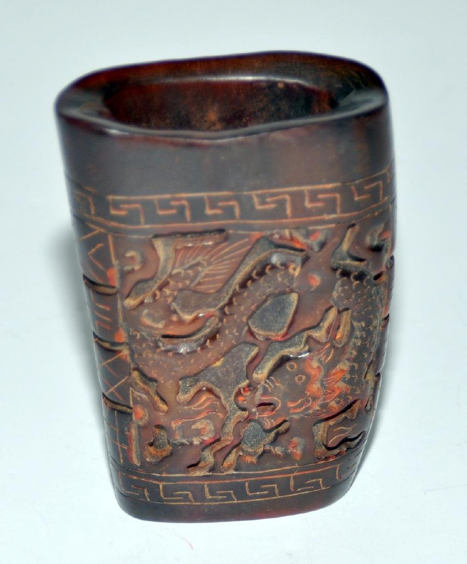 Libation Chinese cup dragons - 3