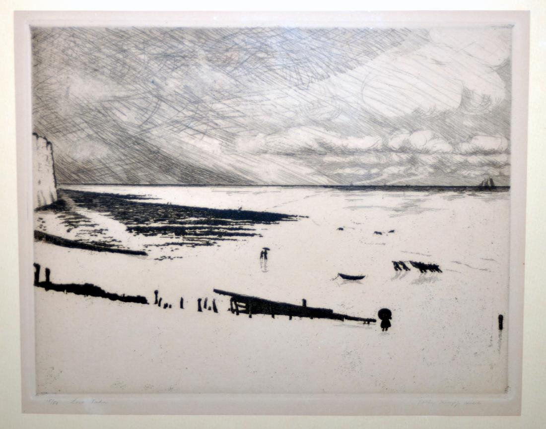 Etching Polly Knipp Hill signed
