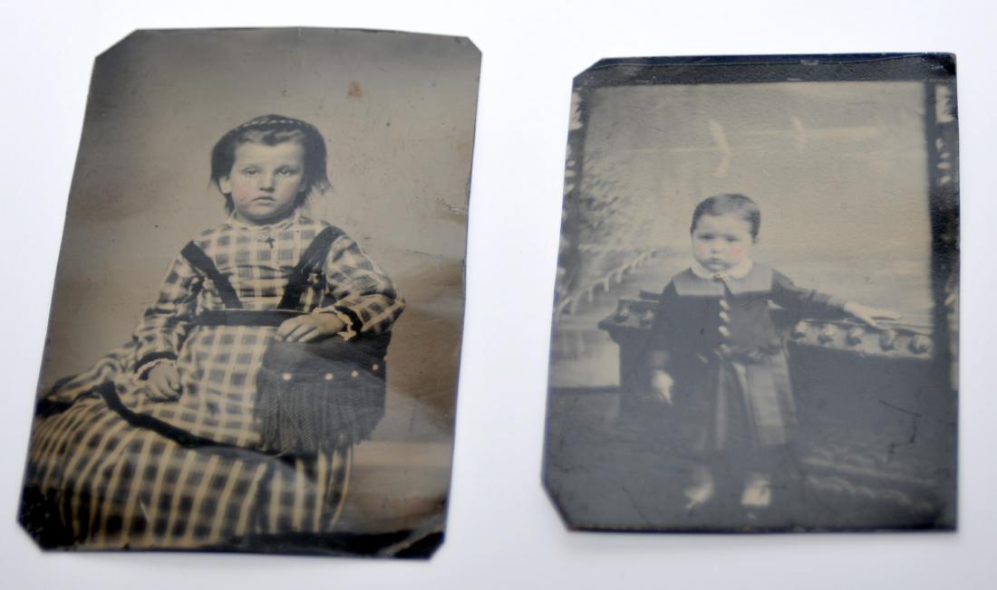 Tintypes Civil war era children