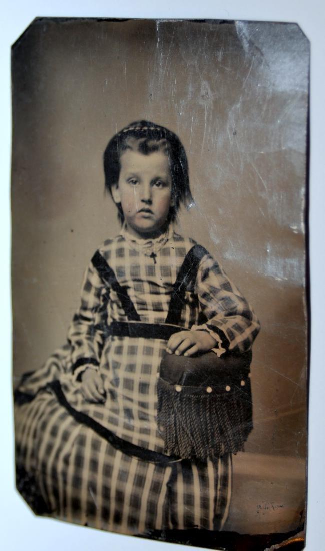 Tintypes Civil war era children - 3