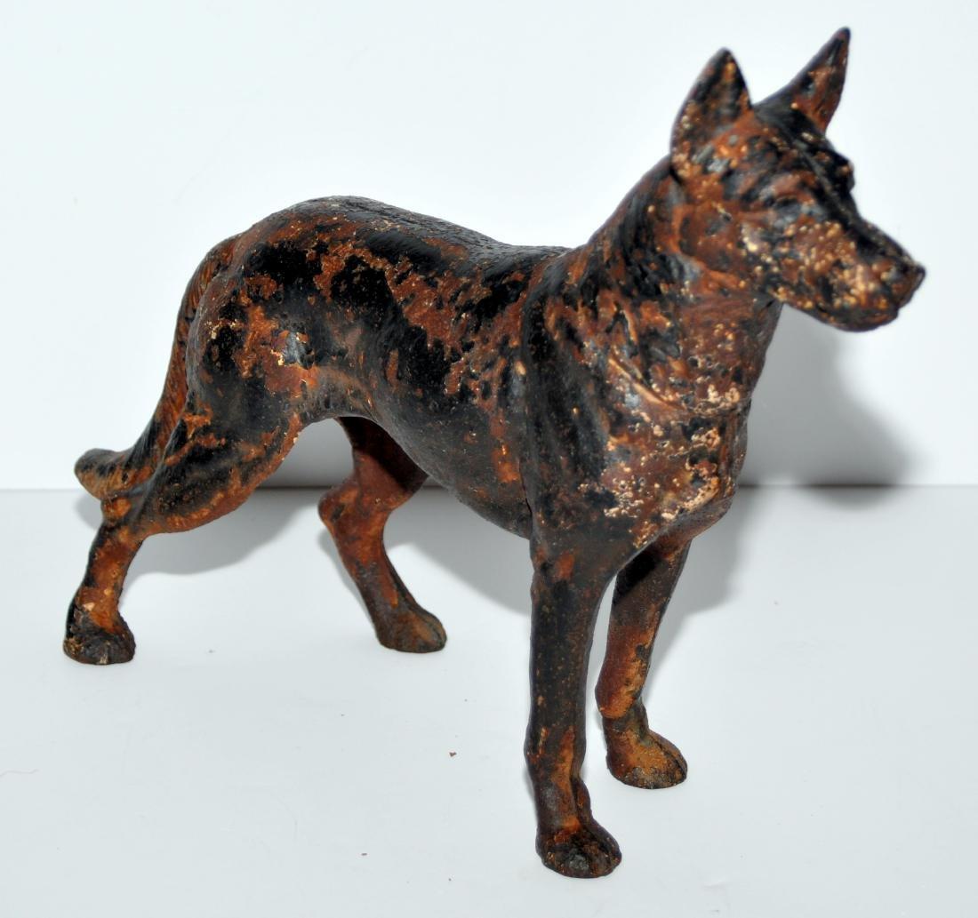 German Shepherd doorstop antique - 2