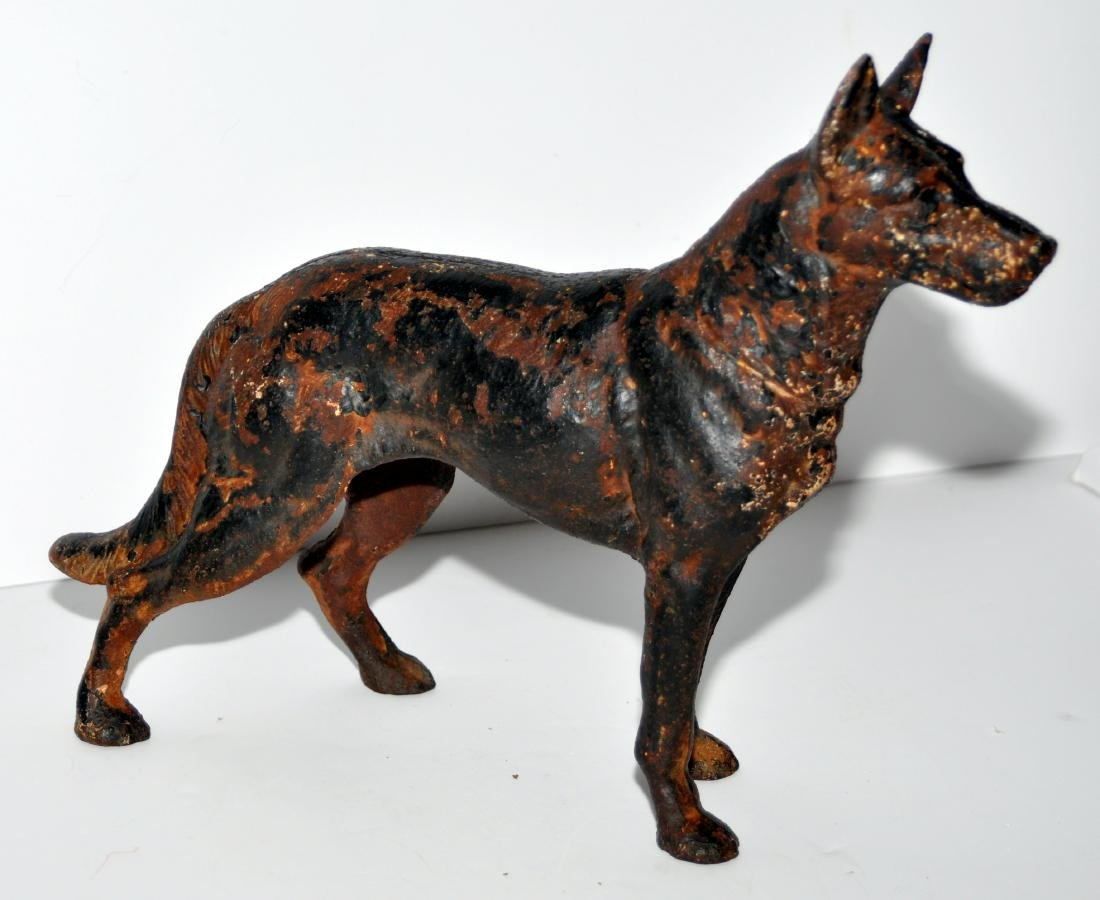 German Shepherd doorstop antique - 4