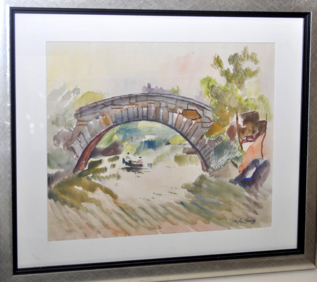 Hayley Lever watercolor Central Park NYC