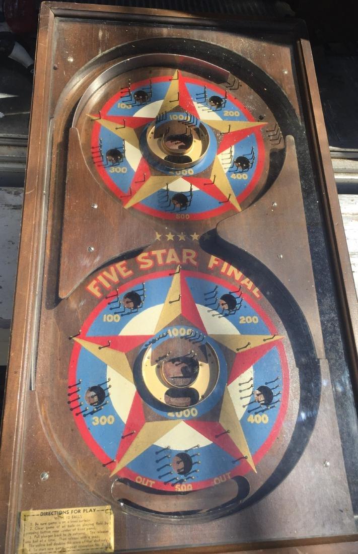 1 Cent Five Star Final Gottlieb pinball machine 1932