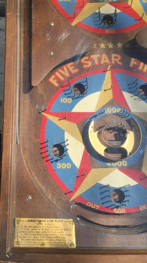 1 Cent Five Star Final Gottlieb pinball machine 1932 - 2