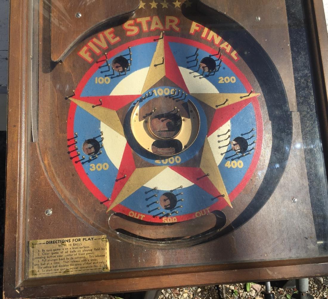 1 Cent Five Star Final Gottlieb pinball machine 1932 - 5
