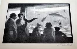 Gordon Grant - The Aquarium litho.