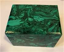 Malachite dresser box gemstone