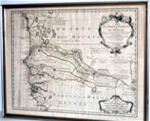 Map of French Senegal and New Guinea 1727