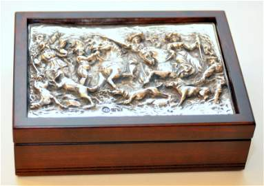 Winograd repousse sterling signed box