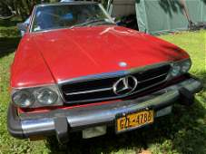 1988 Mercedes convertible sl560