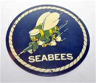 Seabee WWII enamel plaque