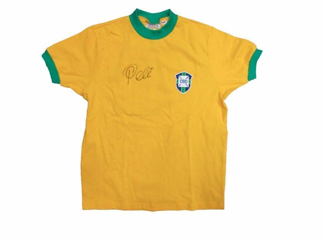 Pele Authentic Signed Soccer Brazil Jersey AUTO PSA/