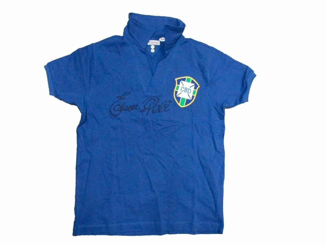 """Edson Pele Authentic Signed """"Full Name"""" Soccer Jersey"""