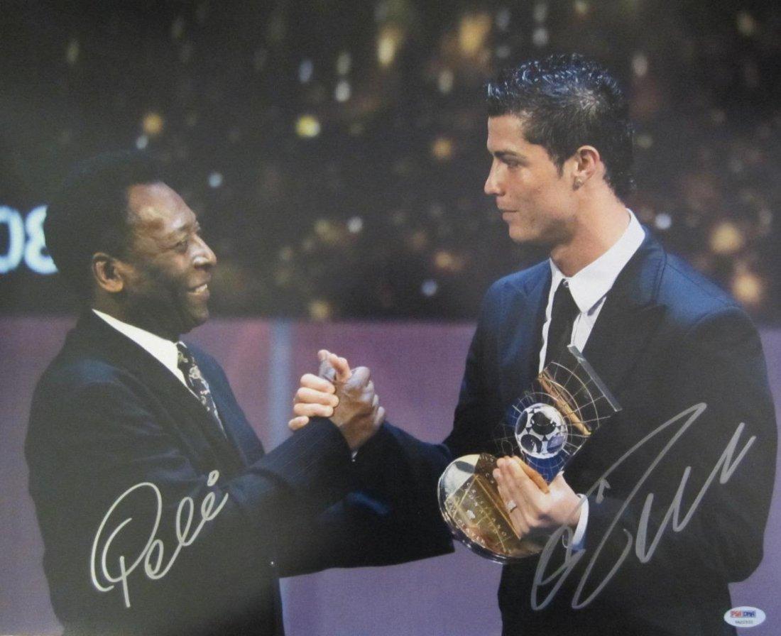Pele & Cristiano Ronaldo Dual Signed 16x20 Photo