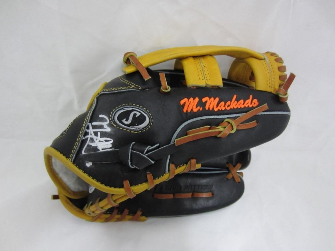 Manny Machado Authentic Signed Game Used Spalding
