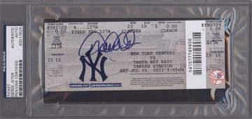 Derek Jeter Signed 3000th Hit Ticket Slabbed PSA/ DNA