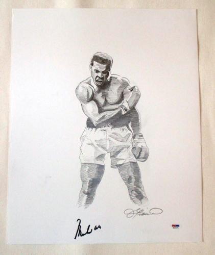 Muhammad Ali Signed 16x20 Drawing - Original PSA/DNA