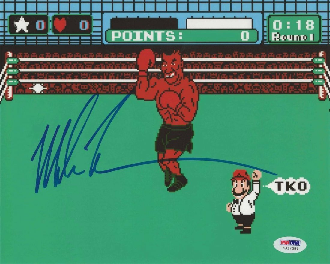 LOT OF 10, Mike Tyson Signed Authentic Auto Punch Out
