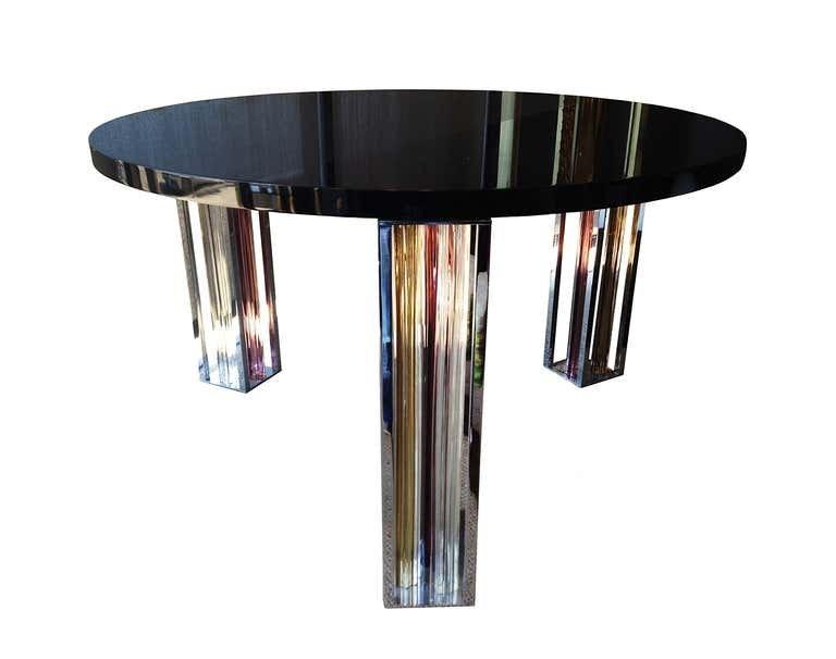 Murano Glass & Chrome Table by Rodolfo Dordoni 4 Venini