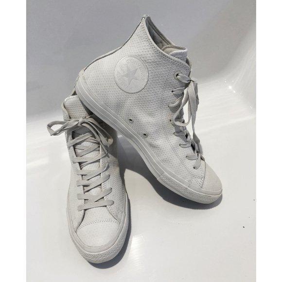 Converse Chuck Taylor ll, Pebbled Leather, sz 11