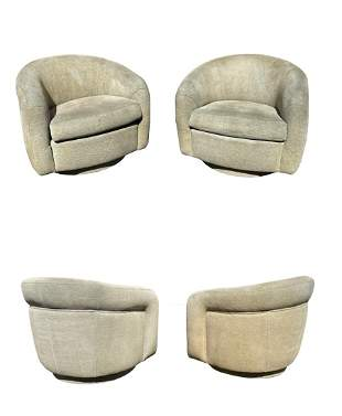 Pair of Swivel Chairs by Vladimir Kagan for Preview