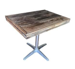 Rectangular Patio Table In Teak PE Wood Aluminum