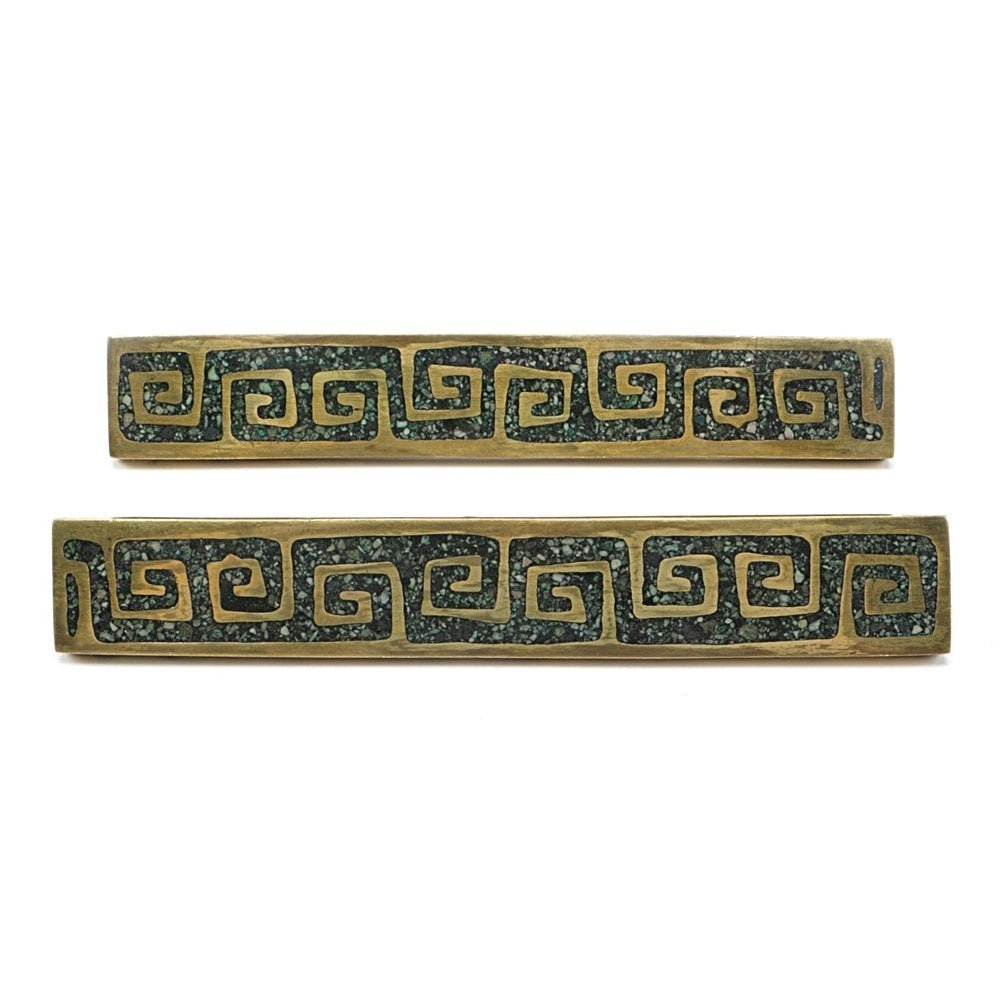 Brass and Enamel Cabinet Pulls by Pepe Mendoza