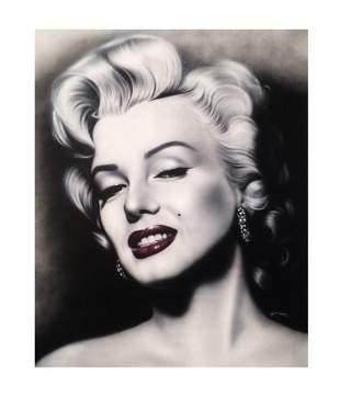 Large Marilyn Monroe Oil Painting SignedDated
